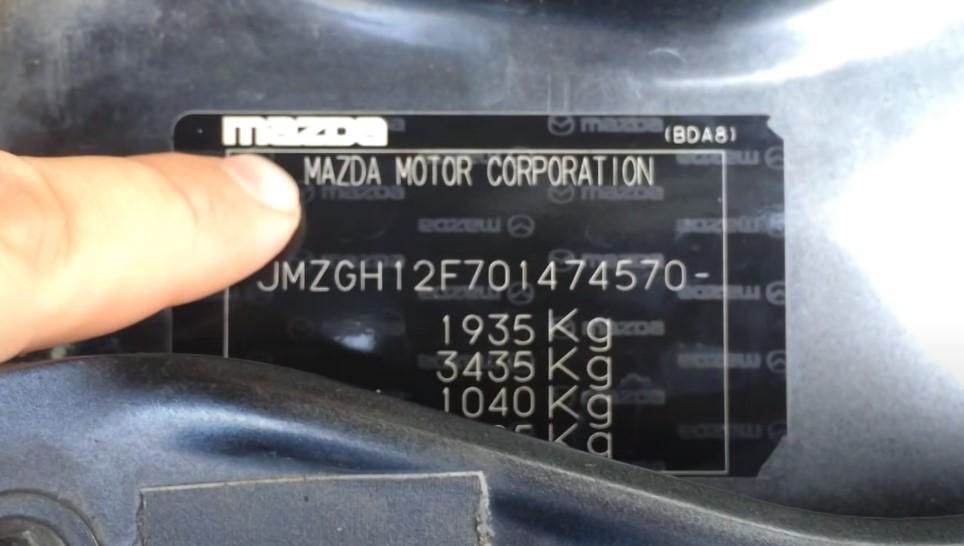 табличка с массой авто, вторая строка с прицепом